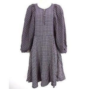 Maeve Dress XS Peasant Sleeve Prairie Boho Print